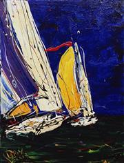Sale 8781 - Lot 512 - Dean Vella (1958 - ) - Full Spinnakers 60 x 45cm