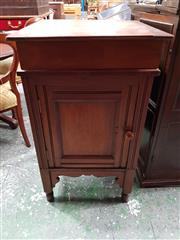 Sale 8792 - Lot 1024 - Late 19th Century Cedar and Pine Wash Stand, with hinged top revealing receptacle and panelled door (H: 94 W: 56cm)