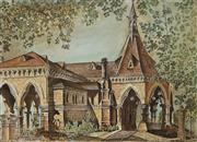 Sale 8907 - Lot 574 - Cedric Emanuel (1906 - 1995) - Old Mortuary Railway Station, Central Sydney 1986 41 x 56 cm