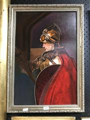 Sale 9045 - Lot 2085 - Artist Unknown- Knight, Oil Painting