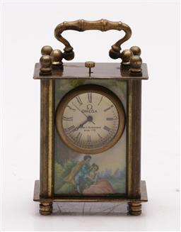 Sale 9098 - Lot 428 - Small reproduction desk clock (small crack to side)