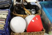 Sale 8217 - Lot 2127 - 2 Baskets of Light Fittings & Shades