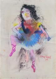 Sale 8410A - Lot 5062 - Anne Hall (1945 - ) - Untitled, 1977 (Ballerina) 99.5 x 70.5cm (sheet size)