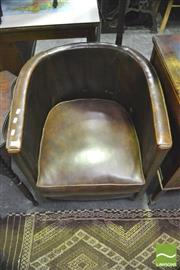 Sale 8352 - Lot 1045 - Leather Tub Chair