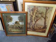 Sale 8437 - Lot 2060 - After Hans Heysen and Pro Hart - (2 works) Decorative Prints, framed various sizes