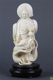 Sale 8594 - Lot 50 - Carved Ivory Figure of Guanyin