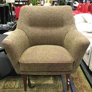 Sale 8643 - Lot 1182 - 1960s Wool Upholstered Armchair