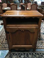 Sale 8882 - Lot 1041 - Small French Walnut Cabinet or Confiture, with open shelf & panel door (key in office)