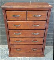 Sale 8971 - Lot 1075 - Timber Chest of Seven Drawers (H:125 x W:95 x D:43cm)