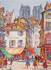 Sale 8992 - Lot 561 - Ellis Silas (1883 - 1972) - Paris Street Scene 27.5 x 20.5 cm (mount: 38.5 x 30.5 cm)