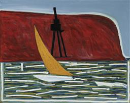Sale 9170 - Lot 520 - ANDREW SOUTHALL (1947 - ) Bradley Headland, 1986 oil on canvas (AF) 121.5 x 152 cm (frame: 131 x 161 x 4 cm) inscribed and titled verso