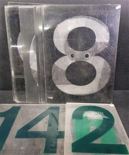 Sale 9254 - Lot 2222 - Perspex service station numbers (h:57 x w:41cm)