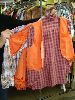 Sale 7490 - Lot 96 - 2 ORANGE COW GIRL COSTUMES WITH SHIRT + 1 EXTRA SHIRT