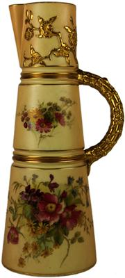 Sale 8065 - Lot 77 - Royal Worcester Blush Ivory Claret Jug