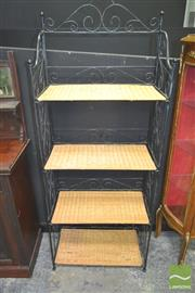 Sale 8272 - Lot 1009 - Metal Framed Bakers Stand