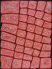 Sale 8374 - Lot 521 - Thomas Tjapaltjarri (c1964 - ) - Tingari 96 x 72cm