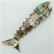 Sale 8419 - Lot 136 - Mother of Pearl Reticulated Fish