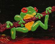 Sale 8732A - Lot 5001 - Dean Vella (1958 - ) - Green Tree Frog 20 x 25cm
