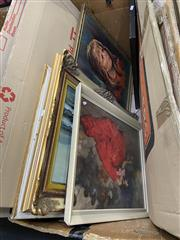 Sale 8998 - Lot 2061 - Group of (7) Assorted Retro Paintings and Decorative Prints -