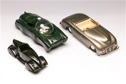Sale 9107 - Lot 70 - A collection of vintage toy cars inc self steering electric car, and a winna car with box