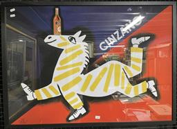 Sale 9113 - Lot 2025 - Cinzano reproduction advertising poster, frame size 66 x 92 cm