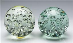 Sale 9164 - Lot 27 - A pair of large glass paperweights (H 15cm)