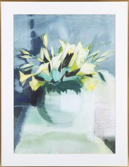 Sale 9190H - Lot 367 - Artist unknown, watercolour, lillies, indistinctly Signed Lower Right, 69cm x 50cm