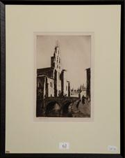 Sale 8080A - Lot 62 - Lionel Lindsay, Spanish Church, drypoint etching, signed lower left