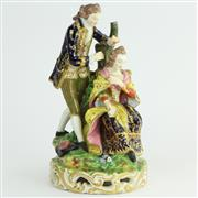Sale 8356 - Lot 25 - Derby Early 19th Century Comical Group The Hairdresser