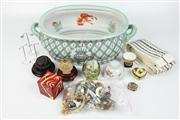 Sale 8410 - Lot 87 - Continental Ceramic Footbath with Other Wares incl Jewellery