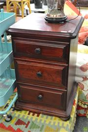 Sale 8566 - Lot 1626 - Pair of Three Drawer Bedsides