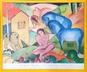 Sale 8682 - Lot 2013 - Franz Marc - El Sueno (1912), poster, from Museo Thyssen - Bornemisza, Madrid, 60.5 x 73.5cm