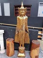Sale 8843 - Lot 1001 - Gilt Timber Carved Religious Figure