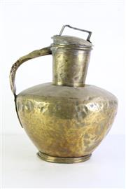 Sale 9006 - Lot 1096 - Large Brass Ewer with Lid (Height: 45cm)
