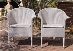 Sale 9248H - Lot 31 - A pair of Cotswold Winter lace ocassional chairs in ivory by Vincent Shepperd,