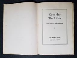 Sale 9254 - Lot 2025 - Scougall, S. & Holford, F. Consider the Lilies, limited edition 120/200, signed copy, pub. Ure Smith, 1953