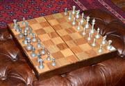 Sale 8088A - Lot 23 - Timber cased chess set.