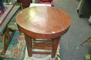 Sale 8409 - Lot 1688 - Round Organic Timber Bar Table