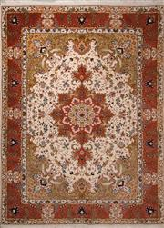 Sale 8447C - Lot 7 - Superfine Persian Silk & Wool Tabriz 205cm x 150cm