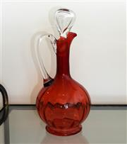 Sale 8858H - Lot 17 - Ruby Glass Murano Pitcher, H 29 cm -