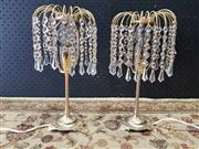 Sale 9009 - Lot 1078 - Pair of Beaded Table Lamps (h:30cm)