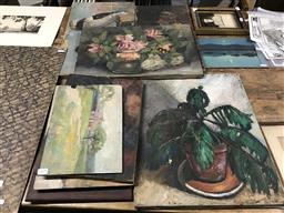 Sale 9113 - Lot 2079 - An interesting selection of oil paintings by Walter Gabriel and Other unsigned works (various conditions)