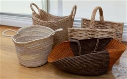 Sale 9165H - Lot 50 - A group of four woven baskets.