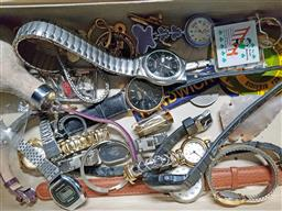 Sale 9254 - Lot 2182 - Box of Watches & Other Miscellaneous Items