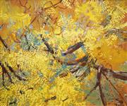 Sale 8538 - Lot 545 - Clifton Pugh (1924 - 1990) - Untitled, 1980 (Golden Wattle) 89.5 x 110cm