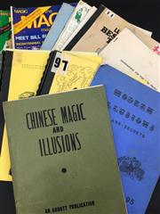 Sale 8539M - Lot 204 - 17 vols., including Chinese Magic & Illusions, Damn Good Tricks, The How-To Book on the Zombie, Shute, & Master Magic by Geo...