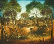 Sale 8549 - Lot 544 - Kevin Charles (Pro) Hart (1928 - 2006) - Study for Emus, 1981 49 x 60cm