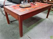 Sale 8566 - Lot 1109 - Vintage Tile Top Coffee Table