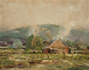Sale 8583A - Lot 5096 - Terry Gleeson (1934 - 1976) - Country Scene 39.5 x 50cm