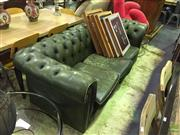 Sale 8648 - Lot 1039 - Green button Back Chesterfield